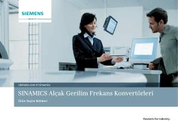 SINAMICS Alçak Gerilim Frekans Konvertörleri