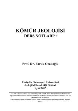 KÖMÜR JEOLOJİSİ - Jeoloji Mühendisliği