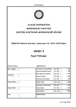 EDL II_Deney_5_2014-15 - Elektrik