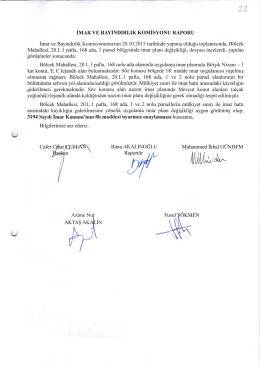2015-416 imar ve bayındırlık komisyon raporu