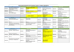 sosyalmedyakampüsü ders program takvimi