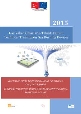 gaz yakıcı cihaz teknikleri modül geliştirme çalıştayı 2015 izmir raporu