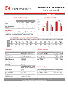 Fon Yönetimi Ekibi Fon Bilgileri Yatırım Araçlarının Getirisi KRC