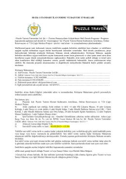 Puzzle Turizm Yatırımları Ltd. Şti.