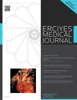 Erciyes Medical Journal