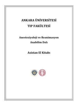 Asistan El Kitabı - Anesteziyoloji Ve Reanimasyon Anabilim Dalı