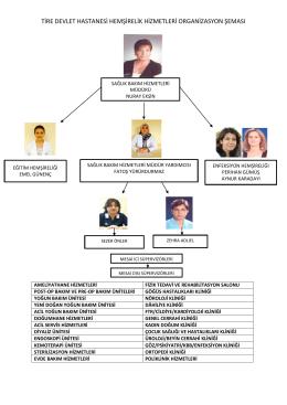 Organizasyon Şeması - Tire Devlet Hastanesi