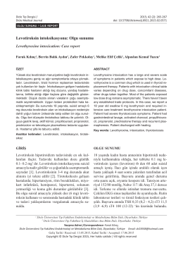 Levotiroksin intoksikasyonu: Olgu sunumu