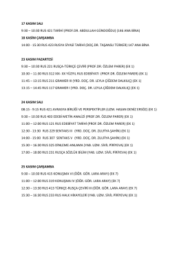10:30 rus 421 tarihi (prof.dr. abdullah gündoğdu) (146 ana bina)