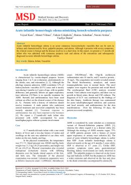 Acute infantile hemorrhagic edema mimicking henoch