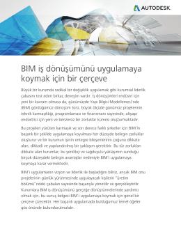 BIM iş dönüşümünü uygulamaya koymak için bir çerçeve