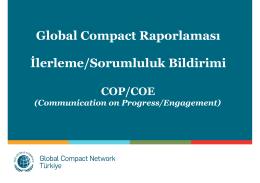 Global Compact Raporlaması İlerleme/Sorumluluk Bildirimi