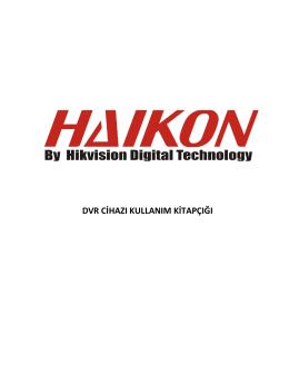 Haikon DS-71, 72 ve 73 serisi DVR kayıt