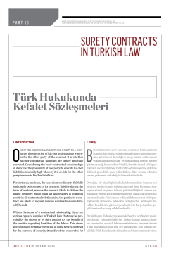 surety contracts ın turkısh law
