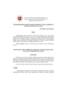 """Fırat Üniversitesi Sosyal Bilimler Dergisi """"Fırat Sayfa:19"""