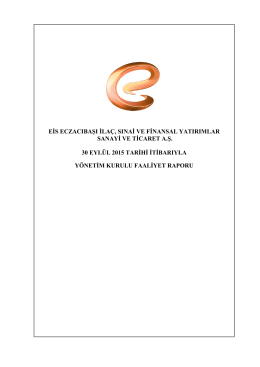 2015 YK Faaliyet Raporu