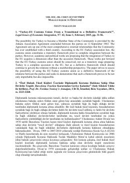 Yrd. Doç. Dr. Ceren Zeynep PİRİM tarafından yazılan makaleler ve