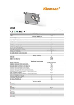 Teknik Veriler / Technical data Sipariş Bilgileri / Ordering