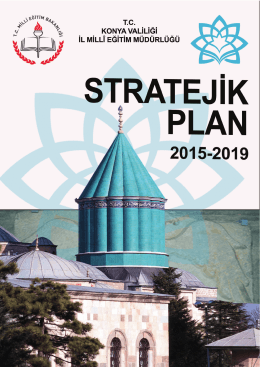 Stratejik Plan - Konya İl Milli Eğitim Müdürlüğü
