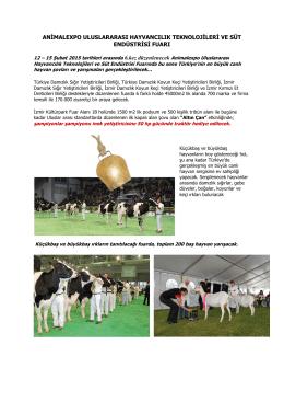 Animalexpo Uluslararası Hayvancılık Teknolojileri ve Süt Endüstrisi