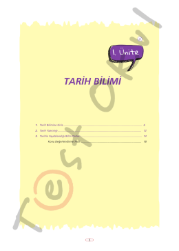 TARİH BİLİMİ - Your Pocket Library