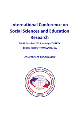 International Conference on Social Sciences and Education Research