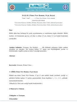 Uluslararası Kış Kentleri Sempozyumu, 10-12 Şubat