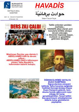 Okul Gazetesi Sayı - Burhaniye Anadolu İmam Hatip Lisesi