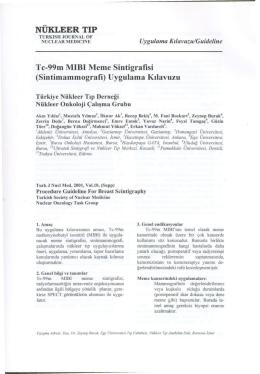 NÜKLEER TIP Tc-99m MIBI Meme Sintigrafisi (Sintimammografi
