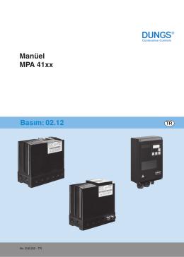 Manüel MPA 41xx Basım: 02.12