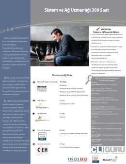 Sistem ve Ağ Uzmanlığı 300 Saat - CLIGURU Eğitim ve Danışmanlık