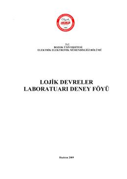 lojik devreler laboratuarı deney föyü