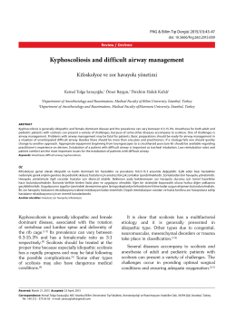 Kyphoscoliosis and difficult airway management