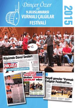 9. Uluslararası Vurmalı Çalgılar Festivali duyurusu