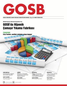 GOSB`da Hijyenik Çamaşır Yıkama Fabrikası