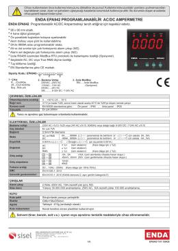 ENDA EPA942 PROGRAMLANABİLİR AC/DC AMPERMETRE