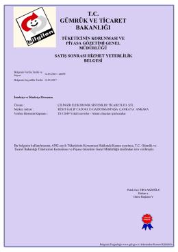 TS 12849 ALARM CİHAZLARI İÇİN KURALLAR .3