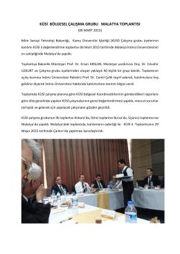 KÜSİ Malatya Toplantısı, 06 Mart 2015