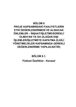 Bölüm 8.1