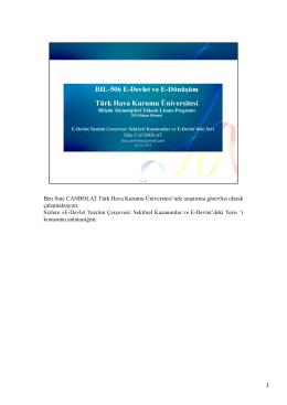 E-Devlet Yazılım Çerçevesi
