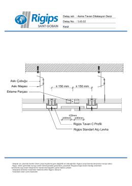 ≤ 150 mm ≤ 150 mm Rigips Tavan C Profili Rigips