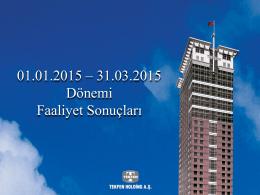 2015/3 - Tekfen Holding