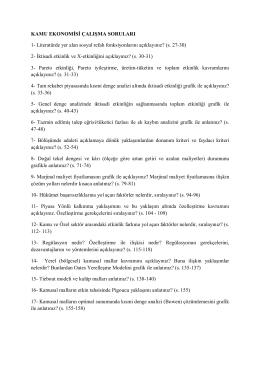 Çalışma soruları (final ve bütünleme)