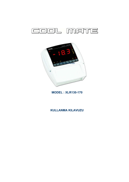 model : xlr130-170 kullanma kılavuzu
