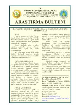 KAVAKLARA ARIZ OLAN Pygaera anastomosis L. ÜZERİNE