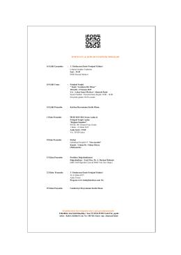 İFOD EYLÜL & EKİM 2015 ETKİNLİK PROGRAMI 16 Eylül Çarşamba