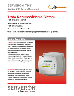 TM 1On-line TRAFO Gazı İzleme Sistemi