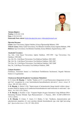 Prof. Dr. Haluk DİNÇALP - Kimya