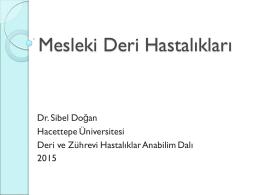 Mesleki Deri Hastalıkları - HİSAM