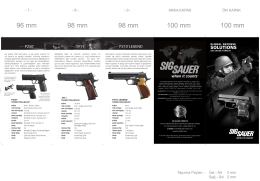 SOLutiONS - sig sauer